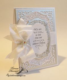 Quietfire Creations: We are never so lost card...