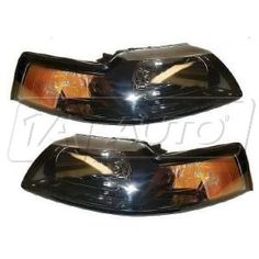 1999 - 2004 Ford Mustang Headlight Smoked Style Pair