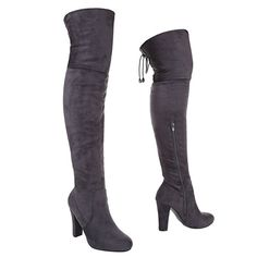 7649d1af4dc2a6 Overknee Stiefel Damenschuhe Klassischer Stiefel Pump Overknee  Reißverschluss Ital-Design Stiefel overknees outfit stiefel Mode