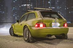 BMW Z3 M Coupe yellow snow