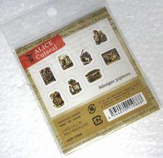 不思議の国のアリス フレークシール 縦3cm×横2.5cm 8種(各4枚入り)