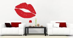 Change the look of your rooms in a heartbeat with Dezign With a Z's Lips and Kiss wall clings. Order Lips and Kiss wall clings today! Modern Wall Stickers, Custom Wall Decals, Wall Clings, Guitar Wall, Wall Decor, Room Decor, Music Wall, Decorate Your Room, Decorating Your Home