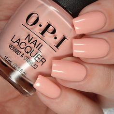 OPI Hopelessly Devoted To OPI is a light pink toned peach creme.