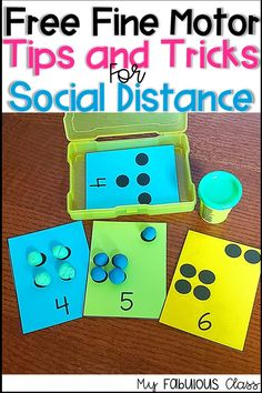 Free Play Dough Activity for Subitizing and Fine Motor Back to School Kindergarten Preschool