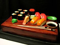 Sushi Cake I made this for a grooms cake. He was a sushi lover. All edible. Dishes and. Sushi Cake, Dishes, Grooms, Image Search, Plate, Boyfriends, Tableware, Cutlery, Dish