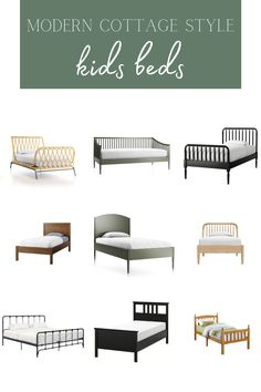 Our Favourite Modern Cottage Style Kids Beds Modern Cottage Style, Cool Mirrors, Built In Desk, Ship Lap Walls, Bed Styling, How To Make Bed, Kid Beds, Home Decor Inspiration, Farmhouse Decor