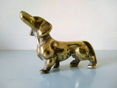 Dachshund, sausage dog, Dachshund lover, brass dog, brass dog figurine, dog lover gift, dog ornament, gift for her, solid brass dog Dog Ornaments, Vintage Ornaments, Dog Lover Gifts, Dog Lovers, Pearl Studs, Magpie, Uk Shop, Cottage Chic, Dachshund