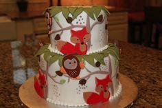 fox and owl cake