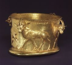 Cup with a frieze of gazelles, early 1st millennium b.c. Northwestern Iran, Caspian region Gold Rogers Fund, 1962 (62.84) On view: Gallery 404 Last Updated April 26, 2013 A number of cups similar to this one have been found in the excavation of the rich burials at Marlik, a site southwest of the Caspian Sea in northern Iran.