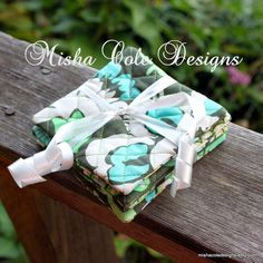 Quilted Coasters Set of 4 Amy Butler Aqua by mishacoledesigns, $12.00