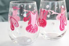Hand Painted Ballet Wine Glasses