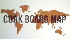 Make your own cork board map cork boards cork and board diy corkboard world map these girls are total idiots but the idea is good gumiabroncs Images