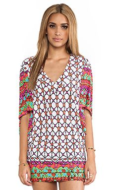 Trina Turk Venice Beach Tunic Cover Up in White | REVOLVE