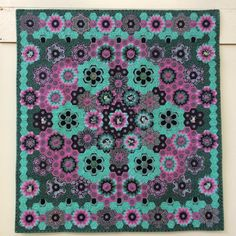 """Quiltmaker says """"So happy to see this finished. My first #epp project. Had no idea what I was making when I started just let it grew. Love it."""""""