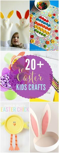 A fun and easy round-up of 20+ Easter Kids Crafts - great collection on { http://lilluna.com }