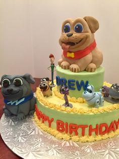 Puppy dog pals birthday cake