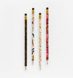 Bring a pop of pattern to your morning crosswords or pop quizzes. Rifle Paper Co.'s pre-sharpened writing pencil set includes three of each design with black erasers. Wood and graphite Printed in full color Set of 12 Style Anglais, Gift Box Design, Bridesmaid Proposal Box, Cute School Supplies, Rifle Paper Co, Weekly Planner, Wedding Cards, Gifts For Her, Pencil