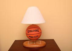 LookWhatWeFound   Spalding Pro Flite Basketball Lamp.  EBTH Basketball  Nursery b53b54e2a