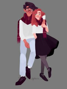 Jily / Lily Evans and James Potter Harry Potter Drawings, Harry Potter Fan Art, Harry Potter Universal, Harry Potter Memes, Harry Potter World, Lily Potter, James Potter, Lily Evans Potter, Hogwarts
