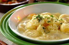 卵の入らない生地なので、よりジャガイモの風味を味わえます。ジャガイモのニョッキ[洋食/茹でる]2015.11.16公開のレシピです。