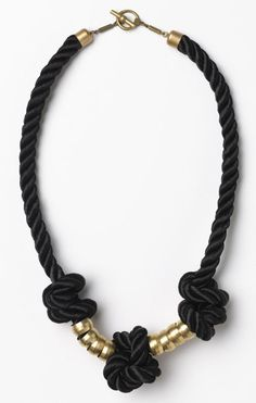Apiece Apart Black Mini Rope Knot Necklace