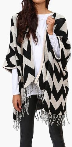 Chevron Wrap Sweater <3