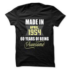 (Tshirt Cool Sell) April 1954 Teeshirt this week Hoodies Tees Shirts