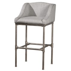 You can add a touch of chic, contemporary style to your home bar or kitchen counter with the Hillsdale Furniture Dillon Bar Stool. This stool features a plush linen-upholstered seat, as well as a sturdy metal frame in a textured silver finish. Black Counter Stools, Swivel Counter Stools, Counter Height Dining Table, Bar Counter, Dining Chairs, Bar Furniture, Kitchen Furniture, Classic Furniture, Joss And Main