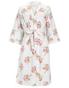Cotton Kimono Robe - Dressing Gowns & Robes - Nightwear