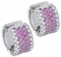 1.90ct Pink Sapphire 0.50ct Diamond Earrings