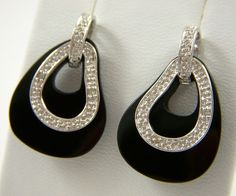 Ohrhänger mit Onyx und Diamanten | Bella Diva® Jewellery & Accessories
