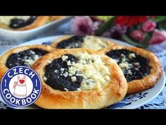Kolache – Koláče – Czech Cookbook – Video Recipes in English – US Measurements – US Ingredients Eastern European Recipes, European Cuisine, Czech Desserts, Just Desserts, Kolache Recipe Czech, Poppy Seed Kolache Recipe, Slovakian Food, Breakfast Recipes, Dessert Recipes