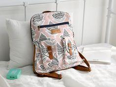 Trish Laptop Backpack PDF Pattern ( Backpack Straps, Laptop Backpack, Fashion Bags, Fashion Backpack, Backpack Pattern, Hook And Loop Fastener, Sewing Material, Casual Bags, Pdf Sewing Patterns
