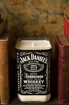 Repurposed Bourbon Bottle Candle - Cedarwood Vanilla Scented. $28.00, via Etsy.