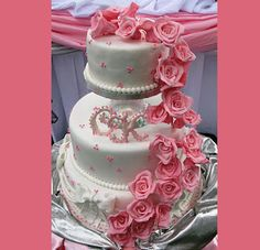 Birthday Cakes Decorated with Hearts | Wedding Cakes /cake decorating / Birthday Cakes / All Wedding Cake ...