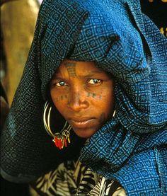 African Fulani woman
