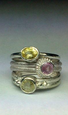 handmade silver-sapphire-rings - jewelry by Nicole Bolze ORIGINALS