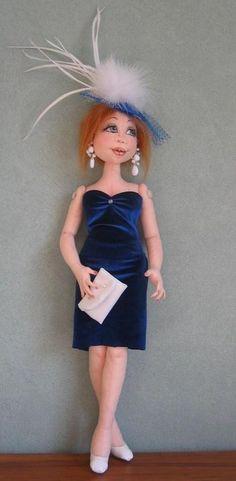 *NEW* CLOTH ART DOLL (E-PATTERN)  KRISTA  BY SHARON MITCHELL