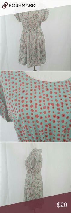 Mod Cloth Ya Los Angeles Poppy Dress M EUC dress with patch front pockets and elastic waist Modcloth Dresses Mini