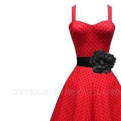 LaFrock.com Mad Men Jive dress with black corsage belt.   Ashley - I think this is the one for you!