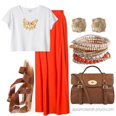 """Maxi Skirt Outfit 17"" by alyssanicolesmith on Polyvore"