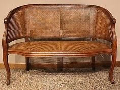 Hekman FRENCH PROVINCIAL CANED SETTEE Caned Bench Settee Chair#followitfindit