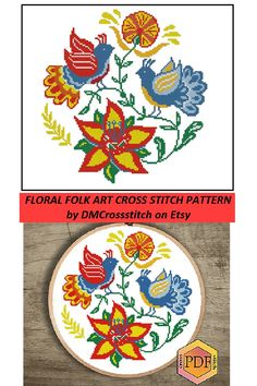 Simple Cross Stitch, Cross Stitch Flowers, Cross Stitch Charts, Modern Cross Stitch Patterns, Cross Stitch Designs, Elephant Cross Stitch, Baby Embroidery, Flower Pillow, Folk Art