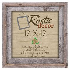 12x12 2 wide signature reclaimed rustic barnwood wall frame check out the image by visiting