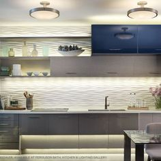 Blue Led Kitchen Lighting lighting Pinterest Kitchens Strip
