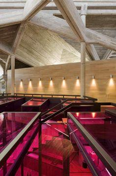 OLARRA'S WINERY - Logroño, La Rioja, Spain (light fixture scheme and ceiling! On a smaller scale)