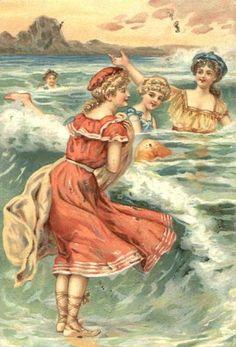 Divided Back Postcard Bathing Beauties Swimsuits & Pinup Éphémères Vintage, Images Vintage, Vintage Artwork, Vintage Labels, Vintage Ephemera, Vintage Pictures, Vintage Cards, Vintage Prints, Vintage Dresses