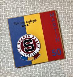 Přání k padesátinám pro Martina - fanouška Sparty I Card
