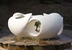 Sculpture including living tree Stone Sculpture, Sculptures, Vase, Handmade, Home Decor, Stone Carving, Hand Made, Rock Sculpture, Flower Vases