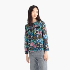 36d67f7ba57 j.crew x abigail borg cotton-silk peasant top   women tops Cotton Silk